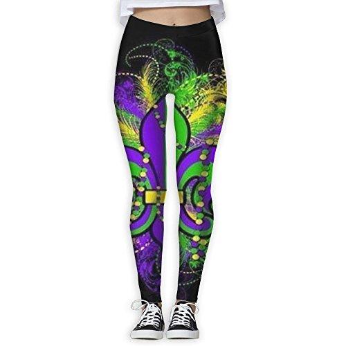 Fri Stretchy Mardi Gras Compression Pants/Yoga Pants Workout Leggings -