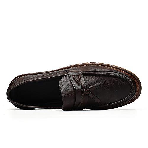 Scarpe Nero Color in 2018 vivere inglese Dimensione Scarpe con camminare Marrone flessibile spesso Uomo Jiuyue shoes brogue da e stile uomo 42 per compagnia in nappa EU fondo Pelle casa SI45qEWx