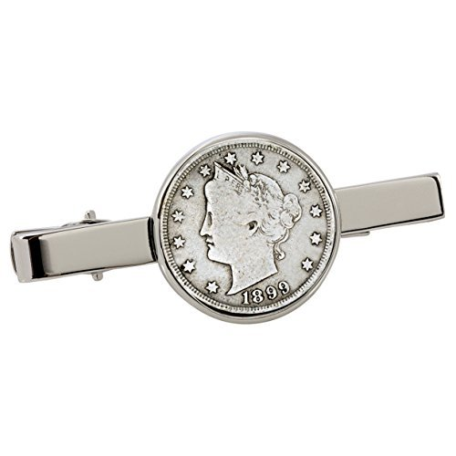 American Coin Treasures 1800's Liberty Nickel Silvertone Coin Tie Clip by American Coin Treasures (Image #1)