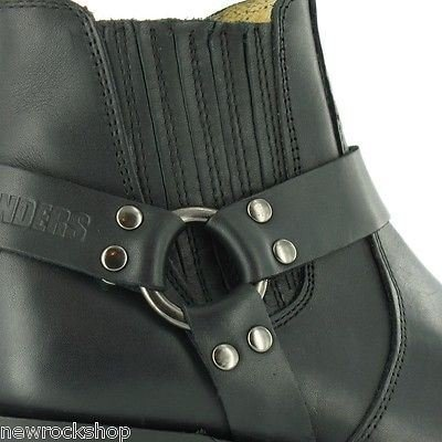 Grinders Renegade Low Rare Waxy Unisex Biker Black Leather Western Boots xJUpt7O8MZ