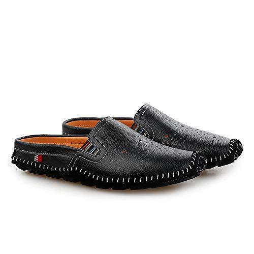 Respirables 27 Zapatos Mocasín Barco Mocasín Ocasionales Blanco 0cm de Ahueca Gommino Negro Zapatillas Cuero Tamaño hacia conducción Las 0cm Fuera Zapatos Zapatos 24 de Gommino Negro Hombre genuinos de xrPqBEwx