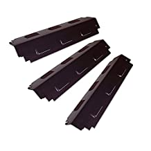 Bar.B.Q.S 98741 Replacement BBQ Gas Grill Heat Plate / Heat Shield Part, Porcelain Steel and Stainless Steel for Charbroil Kenmore Sears Gas Grill and Others, 3-Pack