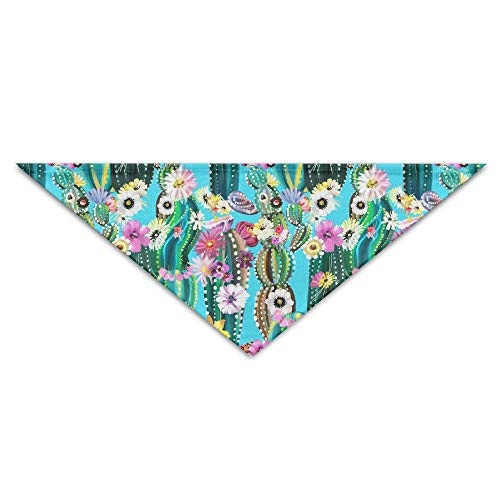 GMSCPET Hand Painted Blooming Cactus Triangle Pet Scarf Dog Bandana Pet Collars for Dog Cat - Birthday