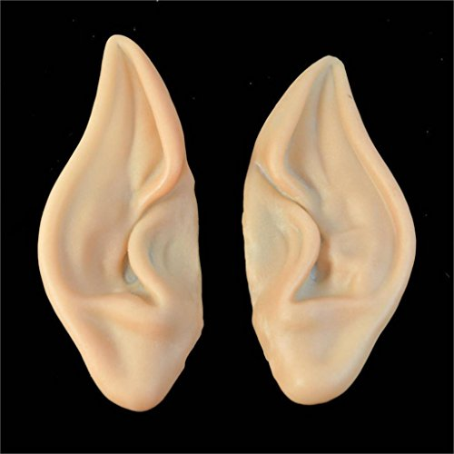 Ayutthaya shop 1 pair of PVC fairy fairy fake elf ears Halloween mask new party mask scary Halloween decorations, soft point the artificial (Group Girl Halloween Costumes)