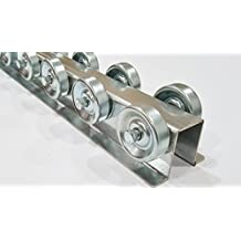 Skate Wheel Flow Rail - Conveyor 5' Long - Flow Rack Conveyor Rail