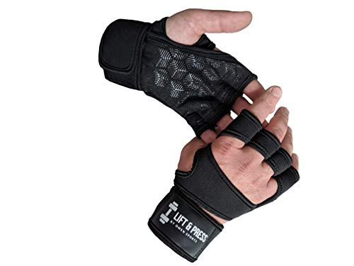 OMEN Sports Gloves for Crossfit, Gym, Weightlifting and Strength Training Workout Made for Men & Women with Wrist Support and Full Padded Palm Protection Best in Gym Accessories