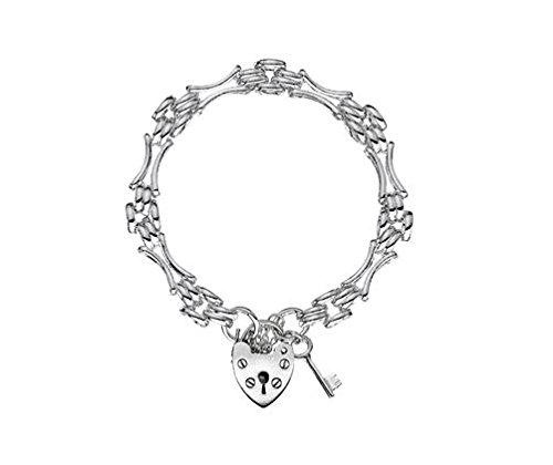 Bracelet en Argent Sterling Panther Gate Charme et clé