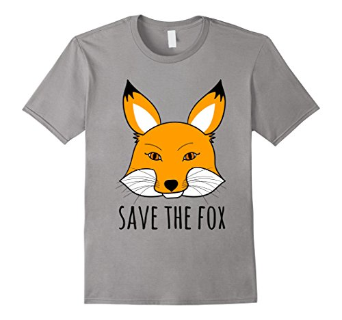 Mens SAVE THE FOX T-Shirt | Animal rights Shirt XL (Men's Rights Activist Halloween Costume)