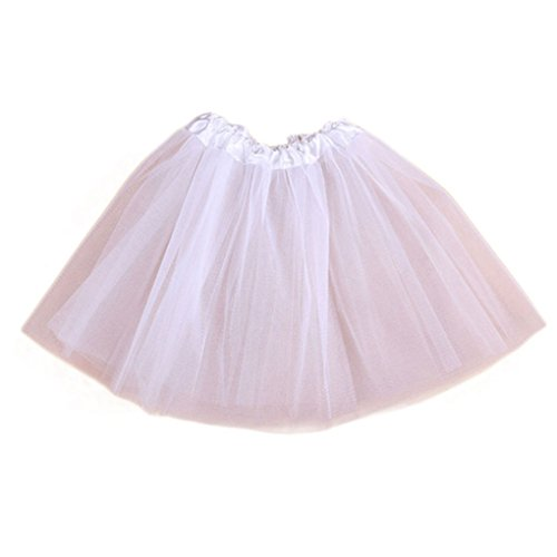 Girl Dress,Haoricu 2017 Hot Sale Lovely Girls Princess Baby Chiffon Tutu Skirts Kids Photography Clothing (Free Size, White)