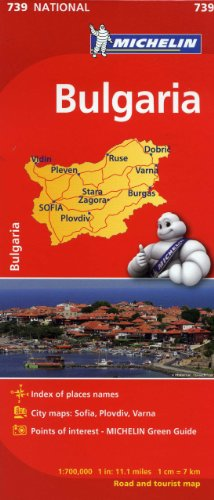 Michelin Bulgaria Map 739 (Maps/Country (Michelin))