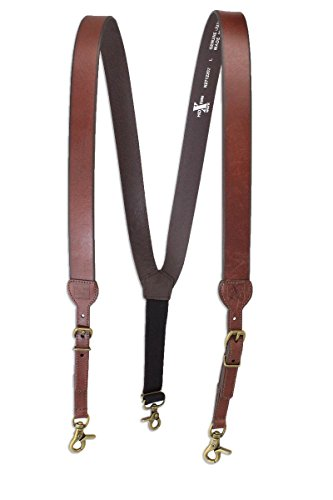 M & F Western Men's Nocona Hdx Smooth Leather Suspenders (X-Large, Brown) by Nocona Belt Co.
