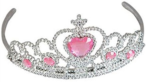 New Beauty Queen Pagent Costume Tiara with Pink Hart (Beauty Queen Fancy Dress)