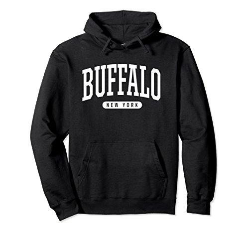 Unisex Buffalo Hoodie Sweatshirt College University Style NY USA XL: (Black Classic College Hoody Sweatshirt)
