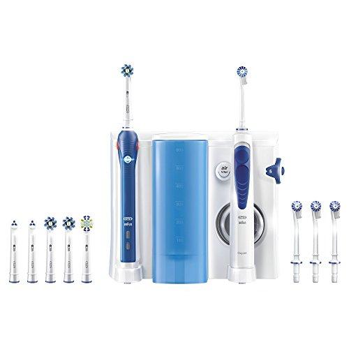 Oral-B OxyJet Reinigungssystem (Munddusche mit Oral-B Pro 3000 elektrische wiederaufladbare Zahnbürste)