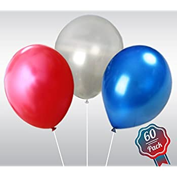Red White And Blue Latex Pearl Balloons