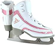 American Athletic Shoe Girl's Soft Boot Ice Skates, W