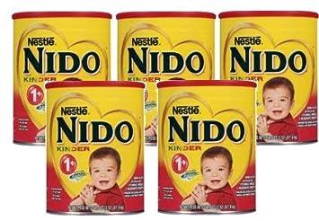 Nestle Nido Kinder 1+ Powdered Milk Beverage 3 52 lb  Canister (Pack of 5)
