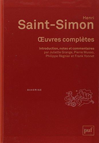 Oeuvres complètes Henri Saint-Simon, édition critique : Coffret en 4 volumes (Quadrige)