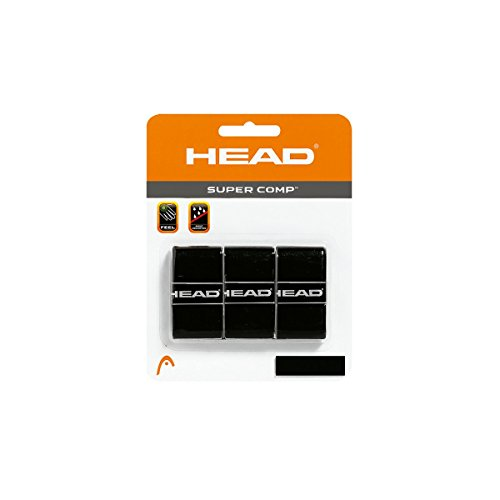 HEAD Super Comp Overgrip, Black, 3-Pack