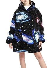 Oversized Hoodie Deken Sweatshirt, WearablBlanket Trui, Zacht Warm Comfortabel Draagbaar Reizen Trui Kussen voor Volwassenen Mannen Vrouwen Kids, Gift voor haar, Binnen en Outdoor