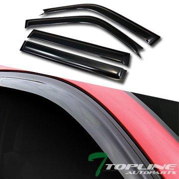 Topline Autopart Sun/Rain Guard Smoke Vent Shade Deflector Window Visors 96-00 Toyota Rav4 4D/4Dr ()