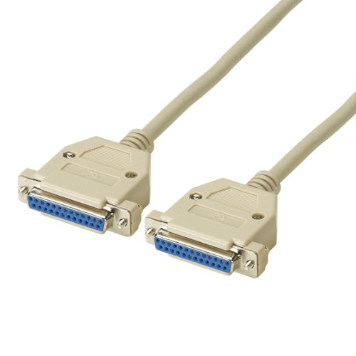 Extended-Distance Null-Modem Cable, Foil Shielded with Drain Wire, DB25, (2) Female, 50-ft (15.2-m) ()