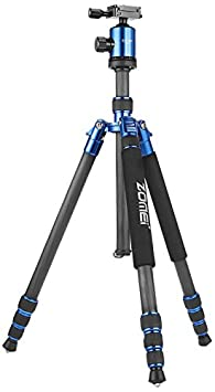 Zomei Z818C Professional Travel Tripod Partial Light Weight Carbon Fiber Tripod With Bag (Blue) Audio Headphones at amazon