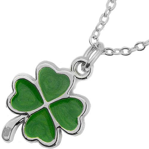 (Soul Statement Four Leaf Clover Charm Necklace Shamrock Charm St Patrick's Day Accessories (Lucky Clover Necklace) )