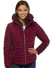 OZONEE JS/M23063 Overgangsjack voor dames, overgangsjas, herfst, bomberjack, opstaande kraag, zonder capuchon, gewatteerde jas, sportjas, lichte outdoor bufferjas, gewatteerd