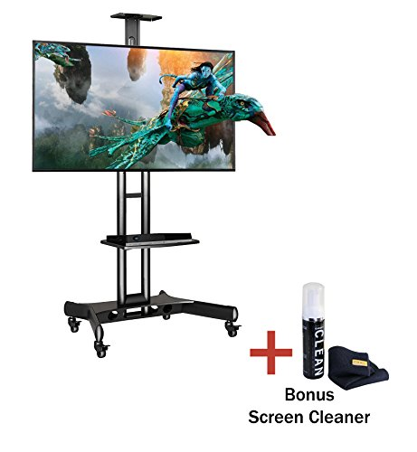 "Boost Industries AVC3265ii Universal Multi-Functional Mobile TV Cart Stand for 32"" to 65"" TVs - Supports up to 100lbs (Cleaner included. Samsung, LG, Sony, Vizio, Haier, Insignia)"