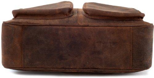 LEABAGS Dallas Aktentasche aus echtem Büffel-Leder im Vintage Look - Muskat Muskat