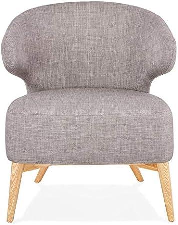 Paris Prix Fauteuil Design Lounge Hera 72cm Gris & Naturel