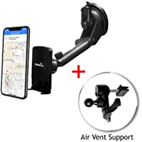 Widras Windshield / Air Vent 2in1 Magnetic Car Mount Universal Phone Holder Window Cradle for Smartphone / Tablet Washable Strong Pad iPhone X 8 7 7+ 6 X 5 5s Plus Galaxy S8 S7 S6 S5 Edge Note Nexus