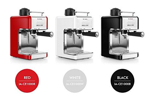 inoq Arden Espresso Coffee machine IA-CE1000R RED 240ml 4 Cups Milk FrotherCappuccino Latte