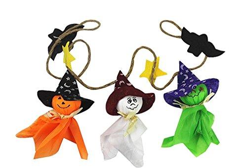 Kinghard Halloween Ghost String Doll anyard Cute Pull Flower Bar Dress Up Props Lanyard Doll 3 dolls string Wall Scenarios ()