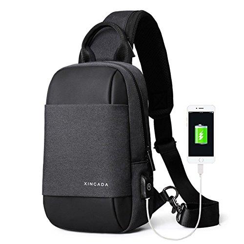 XINCADA Sling Bag Messenger Bag Crossbody Shoulder Bags Chest Pack Man Purse Small Backpack for Men