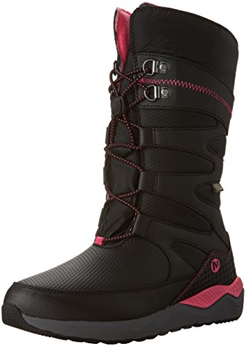 (Merrell Artic Blast WTRPF Tall Boot Waterproof Snow Boot (Toddler/Little Kid), Black/Pink, 11 M US Little Kid)