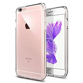TENOC Phone Case Compatible for Apple iPhone 6S and iPhone 6 4.7 Inch, Crystal Clear Ultra Slim Cases Soft TPU Cover Full Protective Bumper