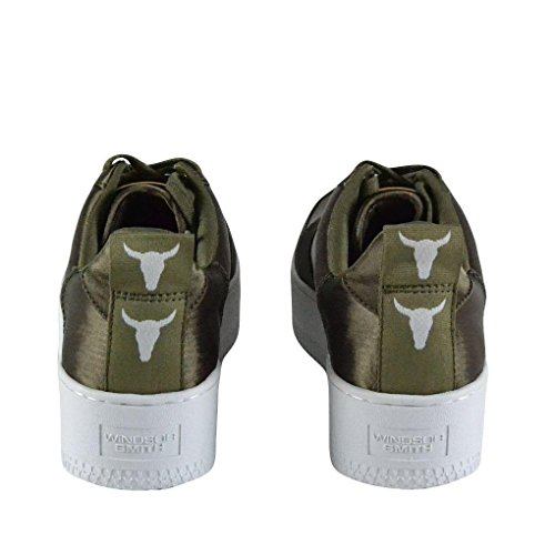 Satin Smith Green Racerr Windsor Zapatillas Mujer para wEndwY1q