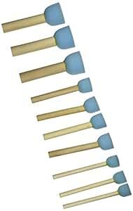 """Sponge Stippler Set, (3) 1/4"""", (4) 3/4"""", (3) 1, 1/4"""", 10/pkg"""