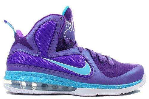 Nike-Lebron-9-Hornets-Pure-PurpleTurquoise-Blue-Wht-Size-12