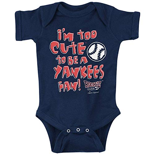 Rookie Wear by Smack Apparel Boston Baseball Fans. Too Cute Navy Onesie (18M)