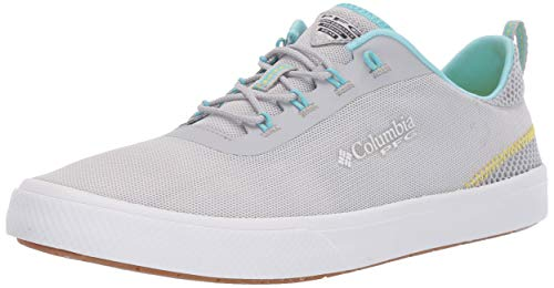 Columbia PFG Women's Dorado PFG Boat Shoe, Silver Grey, Coastal Blue, 7.5
