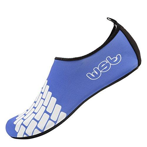 CIOR Männer Frauen und Kinder Barfuß Haut Schuhe Rutschfeste Wasser Schuhe Für Strand Pool Surf Yoga Übung S.blau