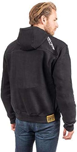Protections CE Fournies Style/&S/écurit/é Taille-3XL Sweatshirt /à Capuche Kevlar RIDER-TEC Freestyle Hoddies Noir