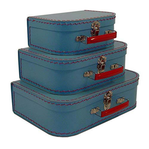 - Cargo Cool Euro Suitcases, Soft Blue, Set of 3