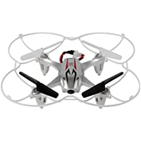 RC Quadcopter,Mini RC Quadcopter 2.4GHz 4CH 6-Axis Gyro 3D UFO Drone With 2.0MP HD Camera By Dacawin (Silver)