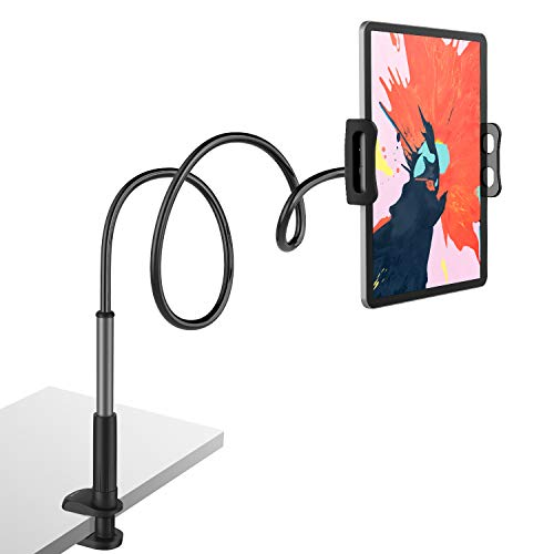 Tryone Soporte Tablet Movil Multiangulo - Soporte con Cuello de Cisne Brazo para iPad Serie/Nintendo Switch/Samsung Galaxy Tabs/Huawei Mediapad/Kindle Fire y mas, 95cm de Longitud Total