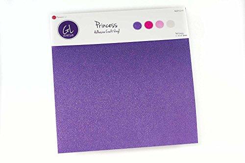 Self Adhesive Permanent (Expressions Vinyl - ULTRA PRINCESS PACK - Glitter Vinyl Self Adhesive Permanent Vinyl Sheets 12