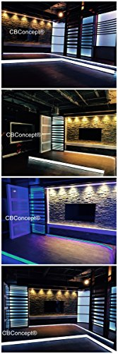 CBconcept UL Listed, 50 Feet, Super Bright 13500 Lumen, 4000K Soft White, Dimmable, 110-120V AC Flexible Flat LED Strip Rope Light, 930 Units 5050 SMD LEDs, Indoor/Outdoor Use, [Ready to use] by CBconcept (Image #8)
